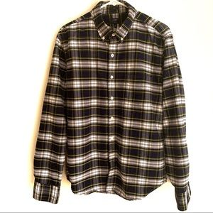 J CREW OXFORD Slim Plaid Button Down Shirt